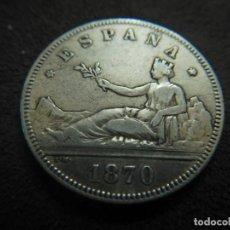 Monedas de España: MONEDA 2 PESETAS 1870 PLATA. Lote 240288005