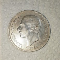 Monedas de España: MONEDA PLATA 5 PESETAS ALFONSO XII 1885 * 87. Lote 240573325