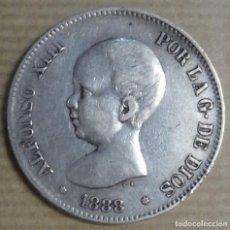 Monedas de España: MONEDA DE PLATA 5 PESETAS REY CONST. DE ESPAÑA 1888. Lote 240645845