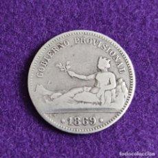 Monedas de España: MONEDA DE 1 PESETA DEL GOBIERNO PROVISIONAL. PLATA. 1869. ESPAÑA. ORIGINAL.. Lote 240854085