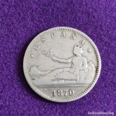 Monedas de España: MONEDA DE 1 PESETA DEL GOBIERNO PROVISIONAL. PLATA. 1870. *_ - 70. ESPAÑA. ORIGINAL.. Lote 240854340