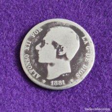 Monedas de España: MONEDA DE 1 PESETA DE ALFONSO XII. PLATA. 1881. ESPAÑA. ORIGINAL.. Lote 240854695