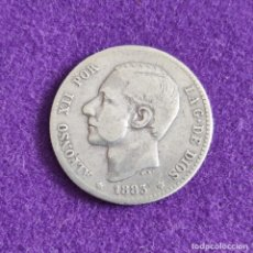 Monedas de España: MONEDA DE 1 PESETA DE ALFONSO XII. PLATA. 1883. *_ - 83. ESPAÑA. ORIGINAL.. Lote 240854980
