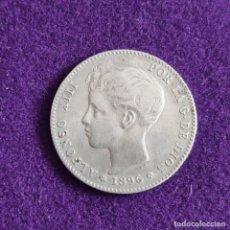 Monete da Spagna: MONEDA DE 1 PESETA DE ALFONSO XIII. PLATA. 1896. *18 - 96. ESPAÑA. ORIGINAL.. Lote 240855930