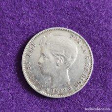 Monete da Spagna: MONEDA DE 1 PESETA DE ALFONSO XIII. PLATA. 1899. *18 - 99. ESPAÑA. ORIGINAL.. Lote 240856200