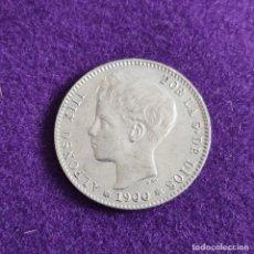 Monete da Spagna: MONEDA DE 1 PESETA DE ALFONSO XIII. PLATA. 1900. *19 - 00. ESPAÑA. ORIGINAL.. Lote 240856285