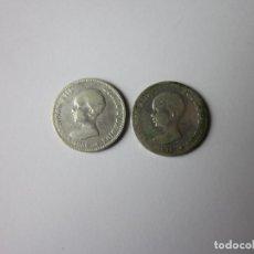 Monedas de España: 2 MONEDAS DE 2 PESETAS. ALFONSO XIII. 1889 Y 1892. PLATA. DIFÍCILES.. Lote 241051400