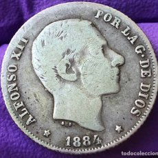 Monedas de España: 20 CENTAVOS DE ALFONSO XII DE 1884. Lote 241524620