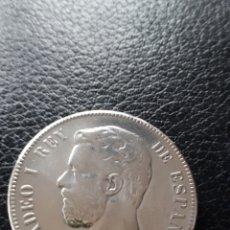 Monedas de España: MONEDA PLATA 5 PESETAS. AMADEO I AÑO 1871 *71 PESO 23 GRAMOS. Lote 241909080