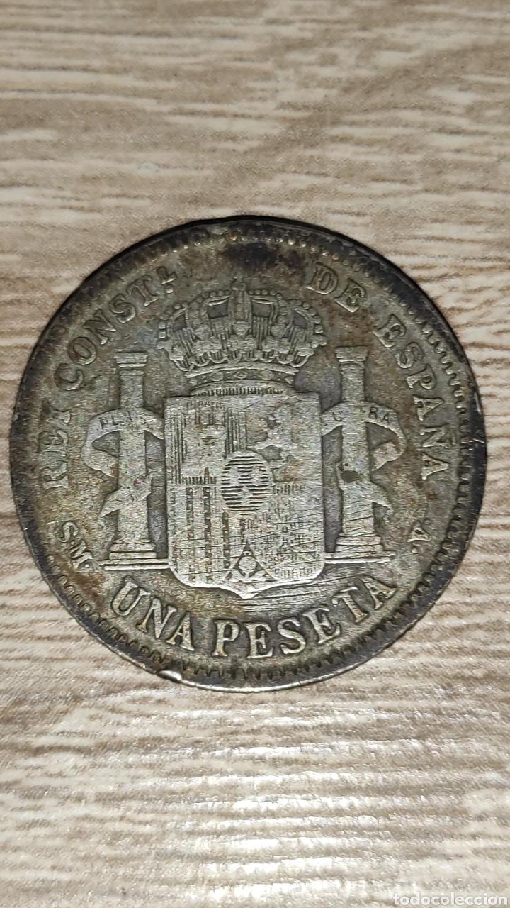 Monedas de España: 1 peseta 1904 - Foto 2 - 241458760