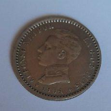 Monedas de España: 50 CENT PLATA ALFONSO XIII 1904 *0*4 DE PLATA. VER FOTOS.. Lote 242854980