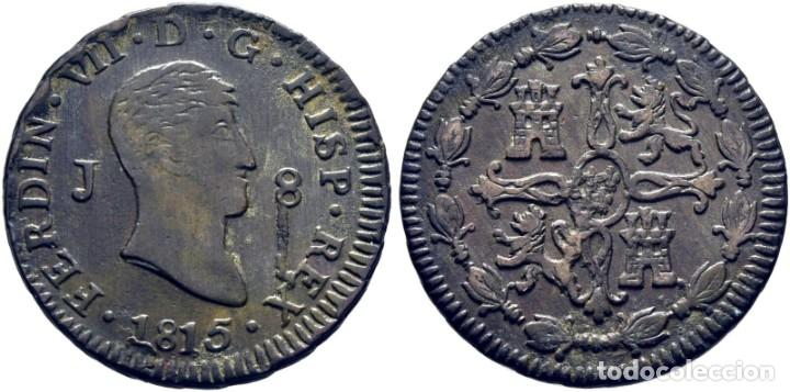 FERNANDO VII. JUBIA. 8 MARAVEDÍS. 1815. EBC+ (Numismática - España Modernas y Contemporáneas - De Reyes Católicos (1.474) a Fernando VII (1.833))