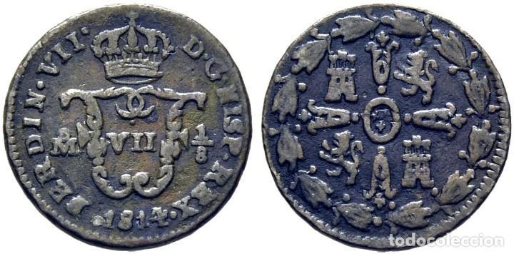 FERNANDO VII. MÉJICO. OCTAVO. 1814. MBC+ (Numismática - España Modernas y Contemporáneas - De Reyes Católicos (1.474) a Fernando VII (1.833))