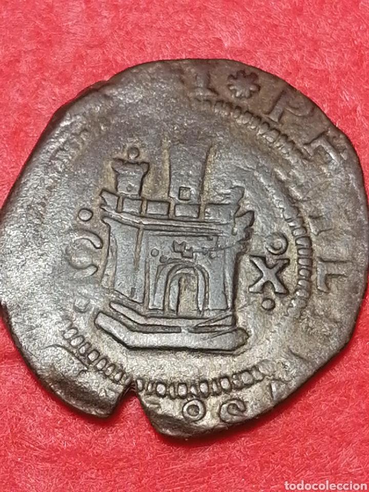Monedas de España: Felipe II 2 MARAVEDIS VARIANTE GRANADA DELANTE DEL LEON - Foto 2 - 243131720