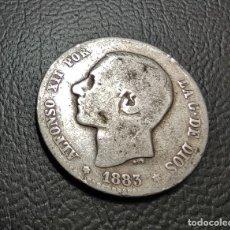 Monedas de España: ESPAÑA 1 PESETA 1883 MS M ESTRELLAS NO VISIBLES PLATA. , ¡¡¡LIQUIDACION COLECION!!!. Lote 243153860