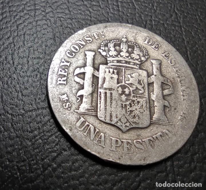 Monedas de España: ESPAÑA 1 PESETA 1883 MS M ESTRELLAS NO VISIBLES PLATA. , ¡¡¡LIQUIDACION COLECION!!! - Foto 2 - 243153860