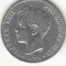 Monedas de España: ALFONSO XIII: 50 CENTIMOS 1896 * 9-6 / PLATA. Lote 166800490