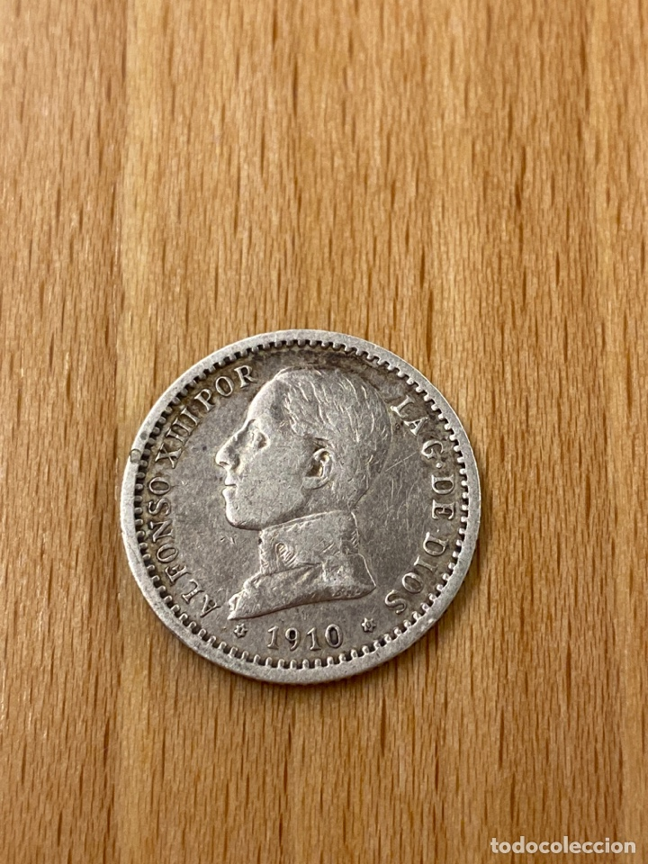 Monedas de España: Moneda 50 céntimos Alfonso XIII plata 1910 estrellas 1 0 - Foto 2 - 243592840