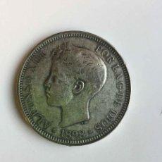 Monedas de España: MONEDA: 5 PESETAS (1898) DURO. ALFONSO XIII. FALSA ORIGINAL ¡COLECCIONISTA!. Lote 243645050
