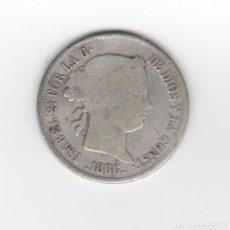 Monedas de España: 1866 ISABEL II 40 C/ESCUDO PLATA CIRCULADA. Lote 243660090