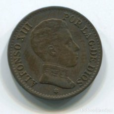 Monedas de España: ESPAÑA, ALFONSO XIII. UN CÉNTIMO DE 1906.. Lote 243861145