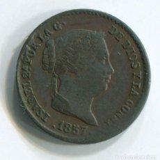 Monedas de España: ESPAÑA. ISABEL II. 5 CENTIMOS DE REAL DE 1857. SEGOVIA. Lote 243868600