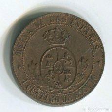 Monedas de España: ESPAÑA. ISABEL II.1 CÉNTIMO DE ESCUDO, 1867 SEGOVIA. Lote 243870330