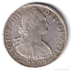 Monedas de España: ESPAÑA 8 REALES PLATA CARLOS IV 1807 TH CECA DE MEXICO - MUY BELLO. Lote 243870645