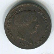 Monedas de España: ESPAÑA. ISABEL II. 10 CENTIMOS DE REAL DE 1855. SEGOVIA. PRECIOSOS. Lote 243876735