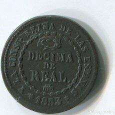 Monedas de España: ESPAÑA. ISABEL II. 1 DECIMA DE REAL DE 1853. SEGOVIA.. Lote 243877865