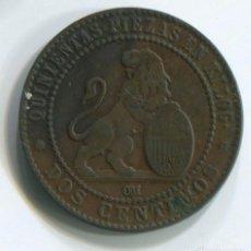 Monedas de España: ESPAÑA, GOBIERNO PROVISIONAL. DOS CÉNTIMO DE 1870. Lote 243885755
