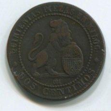 Monedas de España: ESPAÑA, GOBIERNO PROVISIONAL. DOS CÉNTIMO DE 1870. Lote 243886175