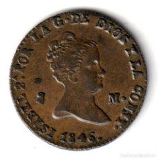 Monedas de España: ESPAÑA: 2 MARAVEDIS COBRE 1846 CECA SEGOVIA REINA ISABEL II - MUY BONITA. Lote 243889985