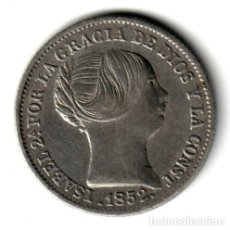 Monedas de España: ESPAÑA: 1 REAL PLATA 1852 REINA ISABEL II CECA DE MADRID. Lote 243893485