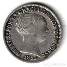 Monedas de España: ESPAÑA: 1 REAL PLATA 1853 ISABEL II CECA DE BARCELONA. Lote 243895430
