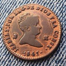Monedas de España: ISABEL 2ª SEGOVIA BONITOS 2 MARAVEDIS 1841. Lote 244020740