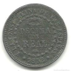 Monedas de España: MONEDA ESPAÑA 1852 SEGOVIA. DECIMA DE REAL. ISABEL II.. Lote 244481250