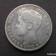 Monedas de España: ALFONSO XIII - 1 PESETA DE PLATA 1902 (1-/0-). Lote 244640755