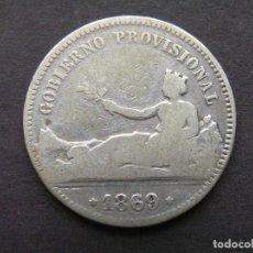 Monedas de España: GOBIERNO PROVISIONAL - 1 PESETA DE PLATA 1869 SN M (--/--). Lote 244641990
