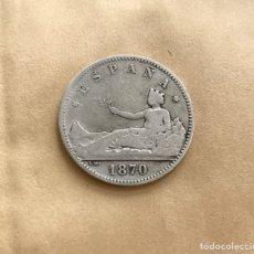 Monedas de España: UNA PESETA ESPAÑA 1870 (REF. 41). Lote 244691070