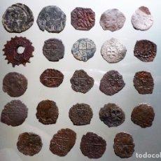 Monedas de España: LOTE DE 24 MONEDAS ESPAÑOLAS TIPO DINERO. Lote 245006480