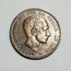 Monedas de España: 10 CENTIMOS DE COBRE. ALFONSO XII. AÑO 1877 . Lote 13205859