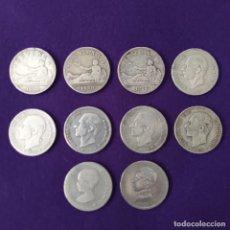 Monedas de España: 10 MONEDAS DE PLATA DE 2 PESETAS. ESPAÑA. ORIGINALES. 1ªREPUBLICA, ALFONSO XII Y XIII.. Lote 245231410