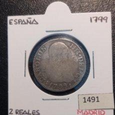 Monedas de España: 2 REALES 1799 , MADRID. Lote 245369275
