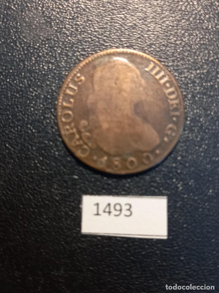 2 REALES 1800 ,MADRID, FALSA DE ÉPOCA (Numismática - España Modernas y Contemporáneas - De Reyes Católicos (1.474) a Fernando VII (1.833))