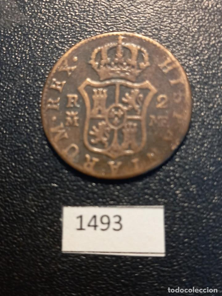 Monedas de España: 2 reales 1800 ,Madrid, falsa de época - Foto 2 - 245369885