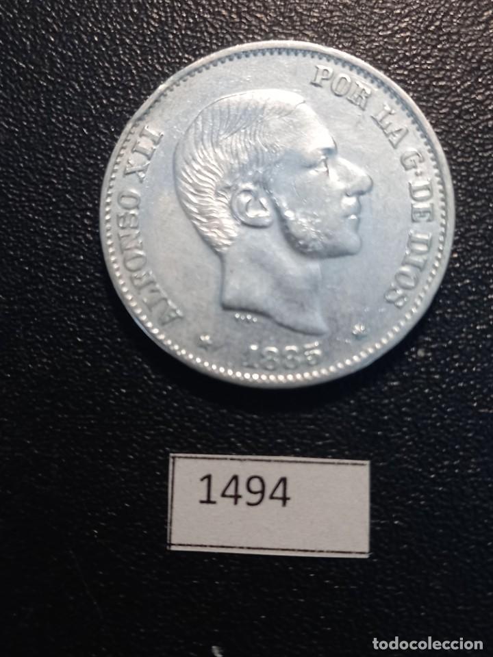 ESPAÑA 50 CÉNTIMOS DE PESO 1885, MANILA (Numismática - España Modernas y Contemporáneas - De Reyes Católicos (1.474) a Fernando VII (1.833))