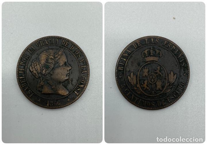 MONEDA. ISABEL II. 5 CENTIMOS DE ESCUDO. SEGOVIA. 1866. VER FOTOS (Numismática - España Modernas y Contemporáneas - De Isabel II (1.834) a Alfonso XIII (1.931))