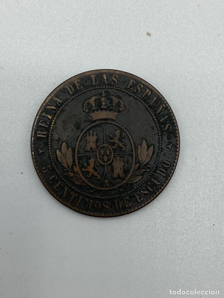 Monedas de España: MONEDA. ISABEL II. 5 CENTIMOS DE ESCUDO. SEGOVIA. 1866. VER FOTOS - Foto 3 - 245780035