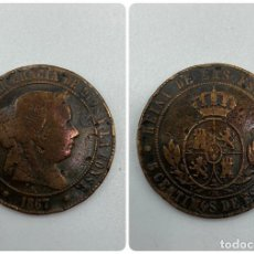 Monedas de España: MONEDA. ISABEL II. 5 CENTIMOS DE ESCUDO. SEVILLA. 1867. VER FOTOS. Lote 245780335